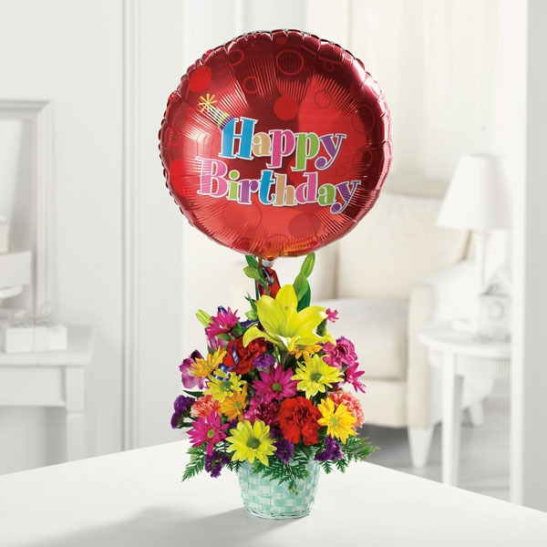 Happy Birthday Blast With Balloon Bridgewater Florist