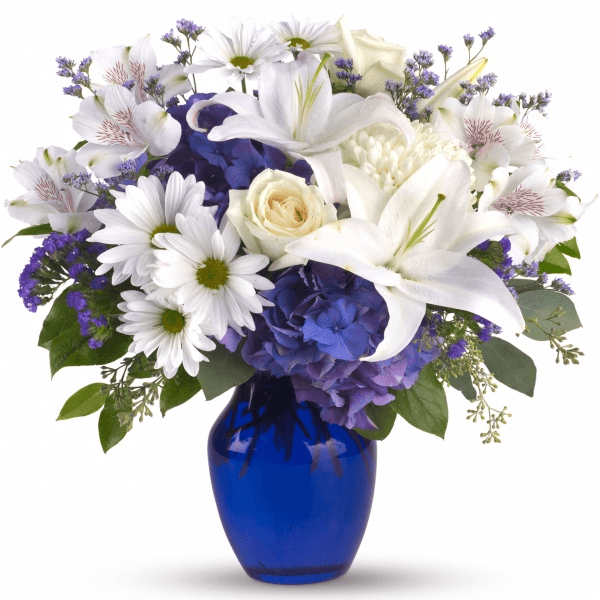 Beautiful in Blue Vase – Bridgewater Florist