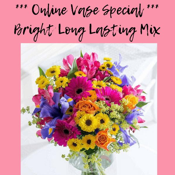 Flower Shop Bright Long Lasting Mixed Vase Bridgewater Florist